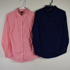 Two Size Medium 8-10 George Button Up Shirts